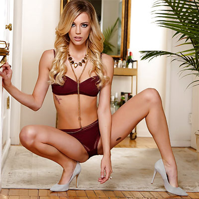 lingerie and heels